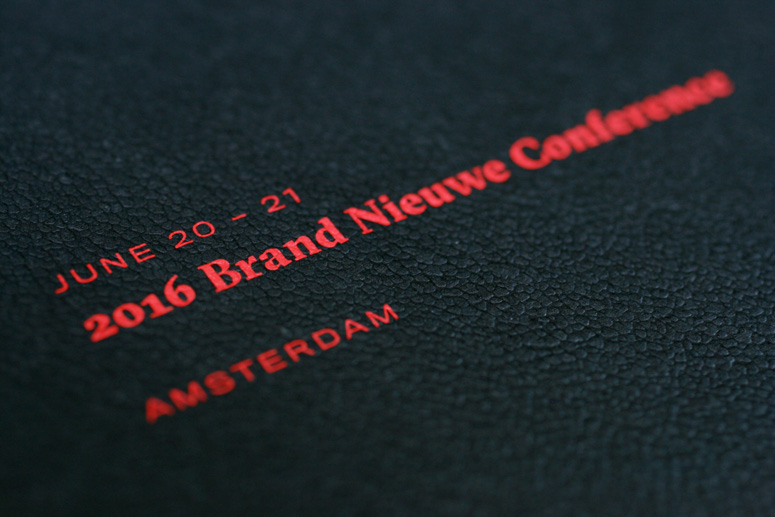 2016 Brand Nieuwe Conference Program