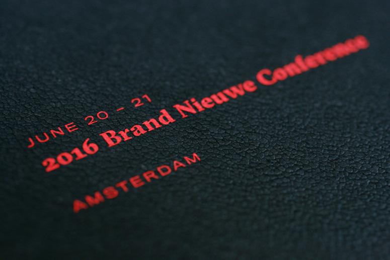 2016 Brand Nieuwe Conference Program