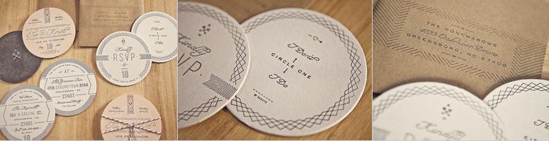 Goncharow's Coaster Wedding Invites