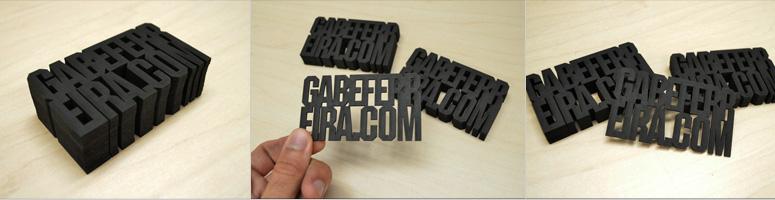 GabeFerreira.com Experimental Business Cards