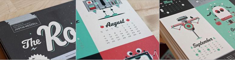 The 2013 Robot Calendar
