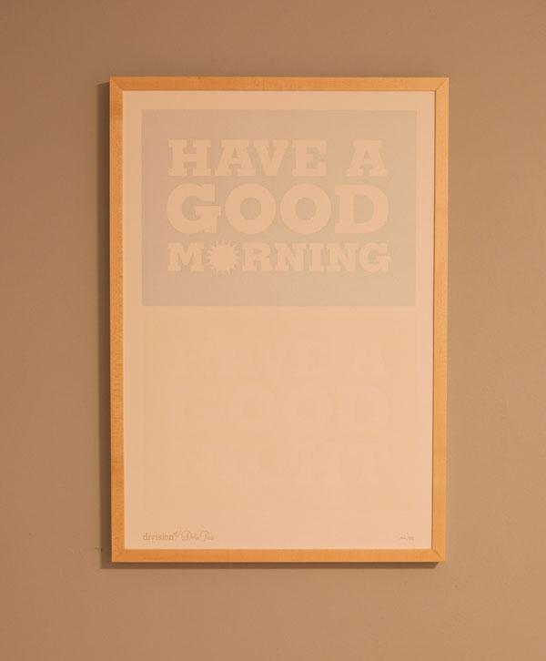 Good Morning/Good Night Poster