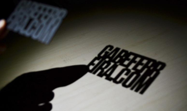 business card shadow far