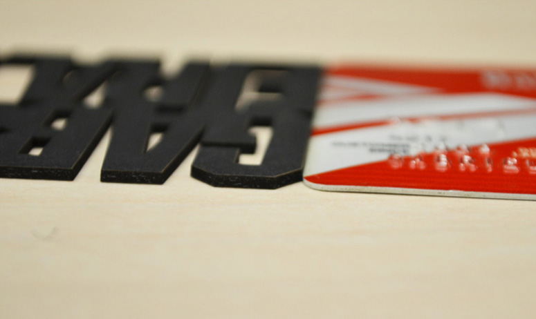 business card with credit card