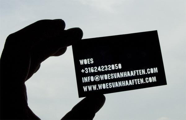 Woes van Haaften Business Card