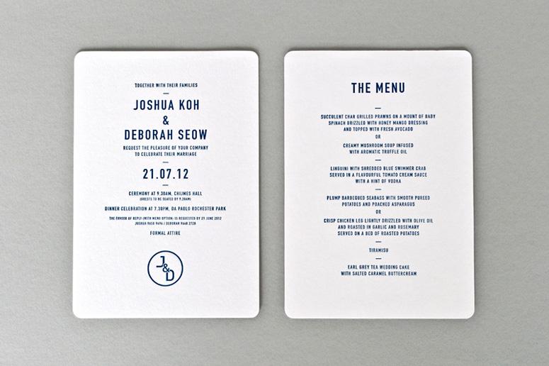 invitation and menu