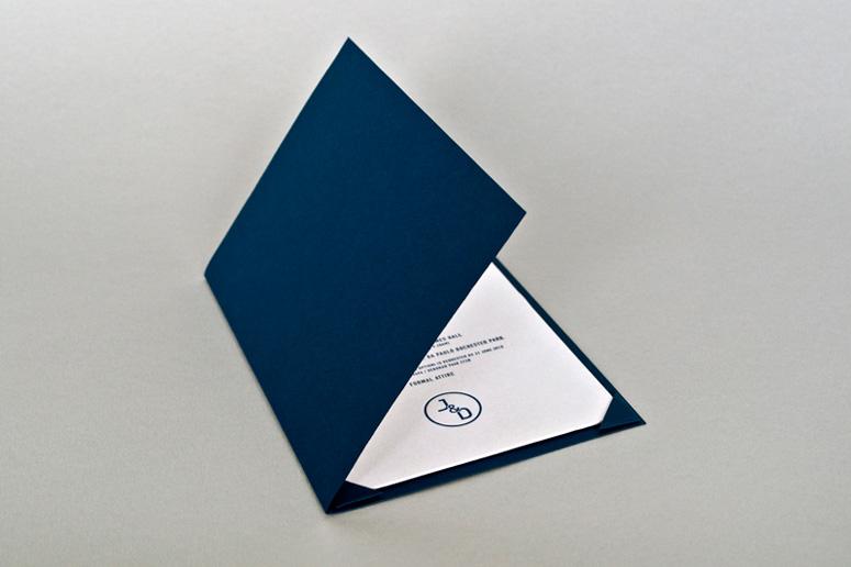 invite and menu in protective folder