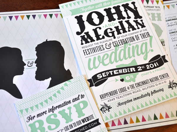 Megan and John Wedding Invitation
