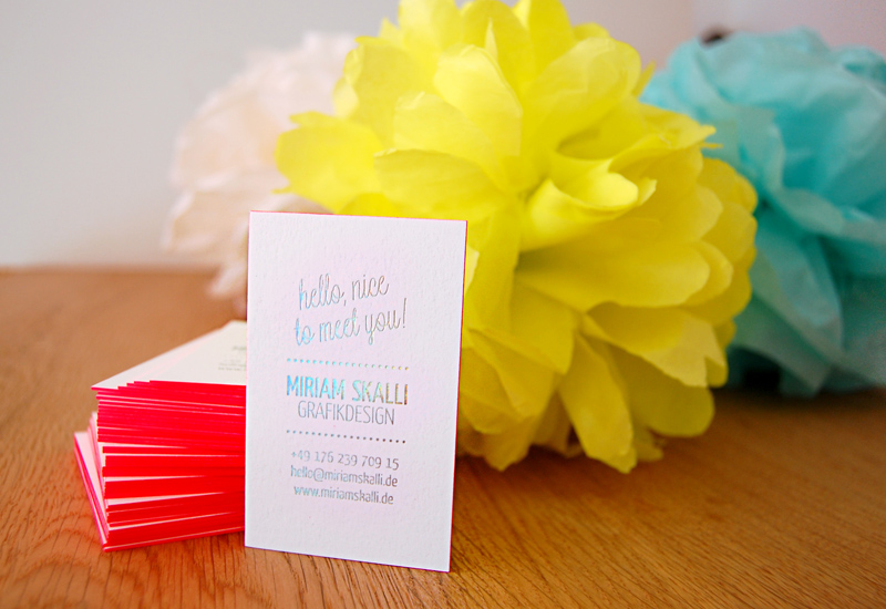 Miriam Skalli Business Cards