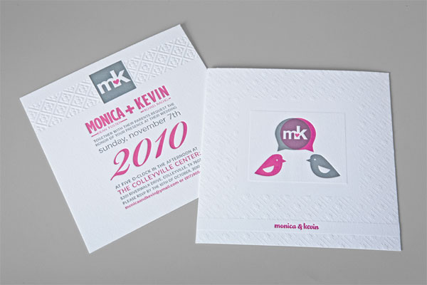 Monica and Kevin Wedding Invitation