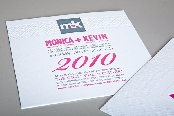 Monica and Kevin Wedding Invitation