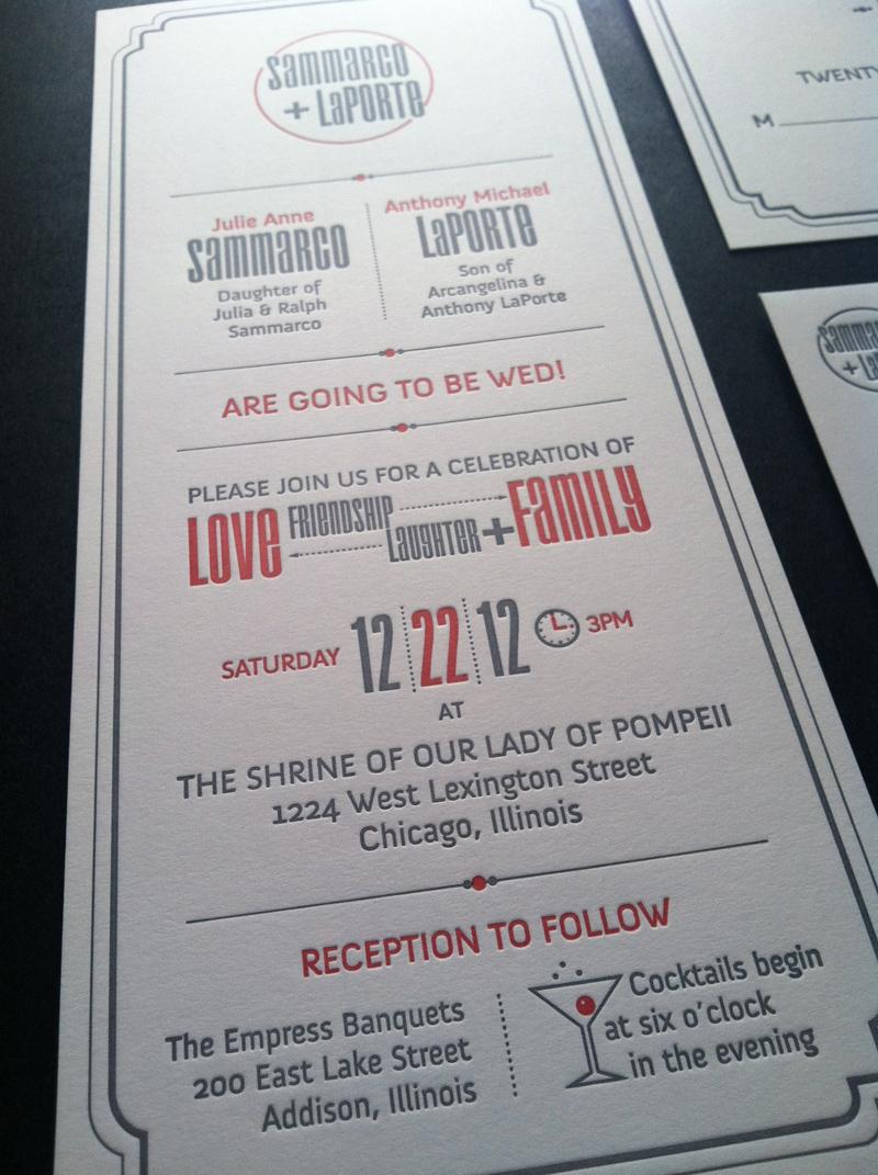 Sammarco and LaPorte Wedding Invitation