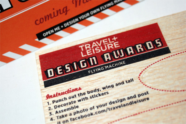 Travel Leisure Design Awards 2011 Mailer