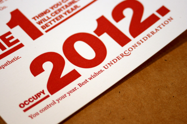 UnderConsideration 2012 Holiday Card