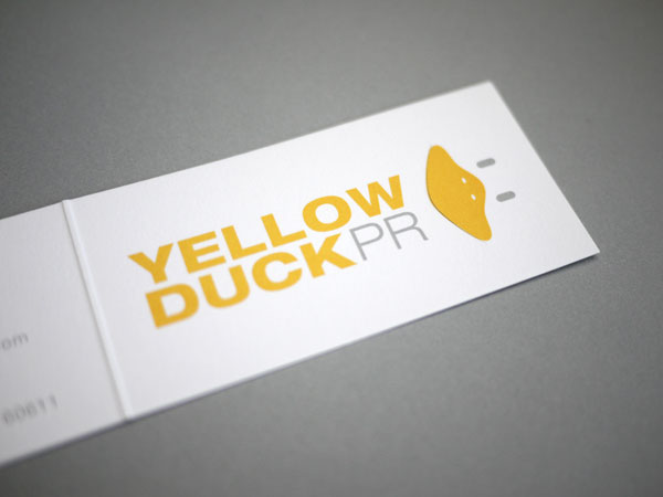 Yellow Duck PR Business Cards