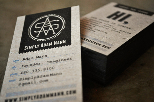 Adam Mann Business Cards