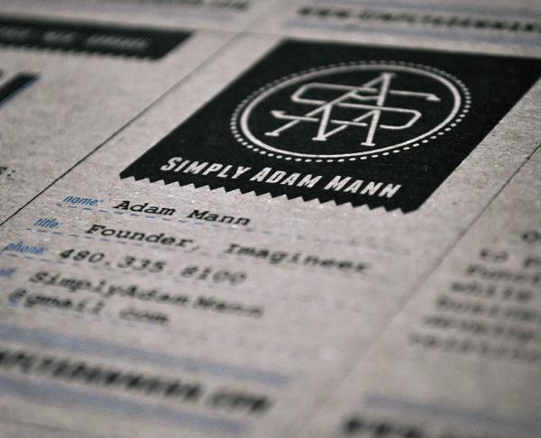 Adam Mann Business Cards