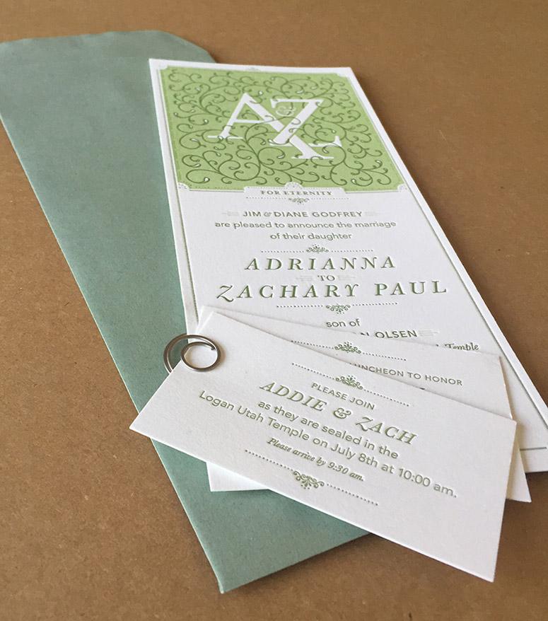 Addie & Zach Wedding Materials