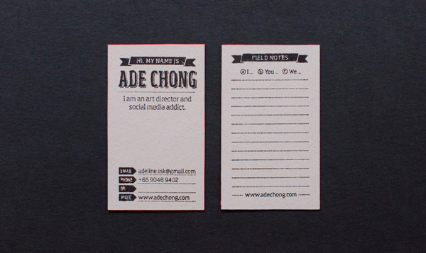 Ade Chong Business Cards