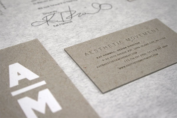 Aesthetic Movement Stationery System