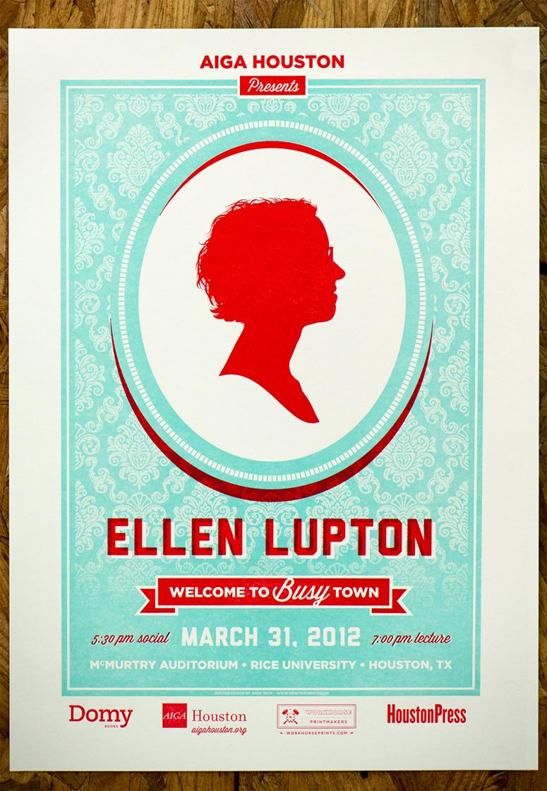 AIGA Houston Ellen Lupton Poster