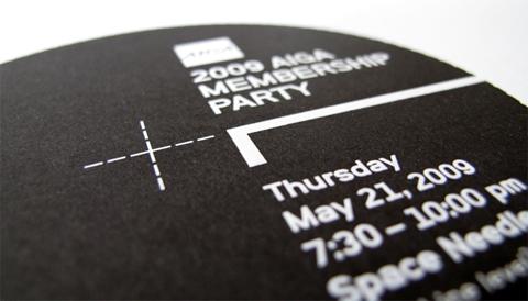 AIGA Seattle Membership Party Invitation