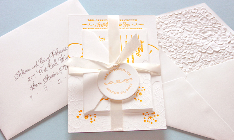 Alison and Gary Wedding Invitation