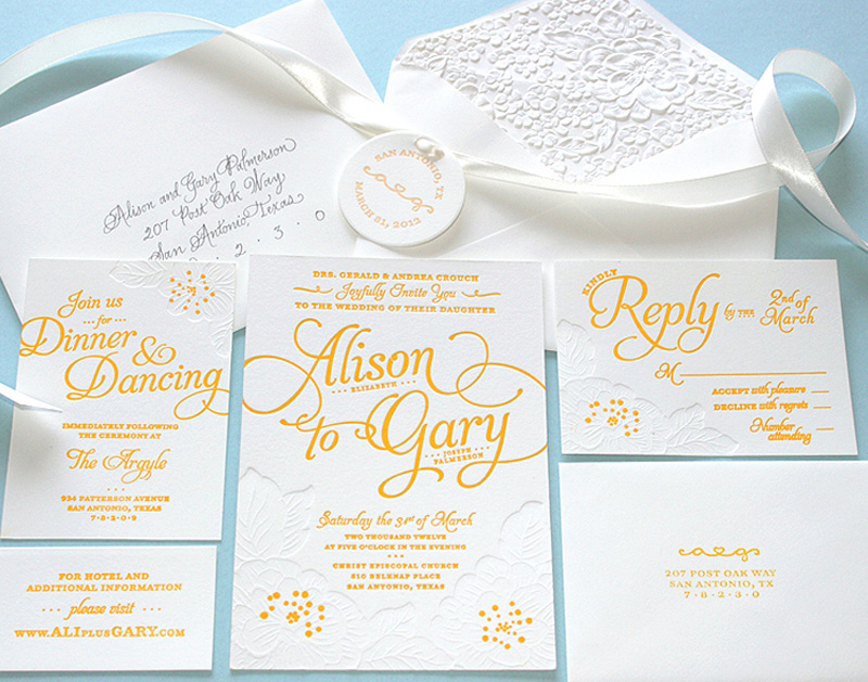 Alison and Gary Wedding Invitation