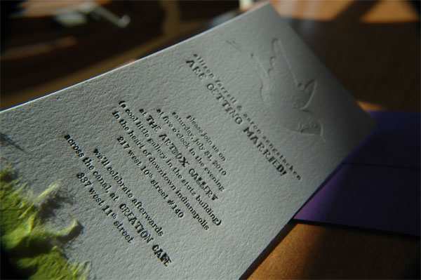 Allison and Aaron Wedding Invitation