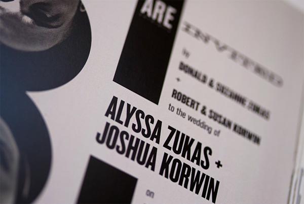Alyssa and Josh's Album Cover Wedding Invitation