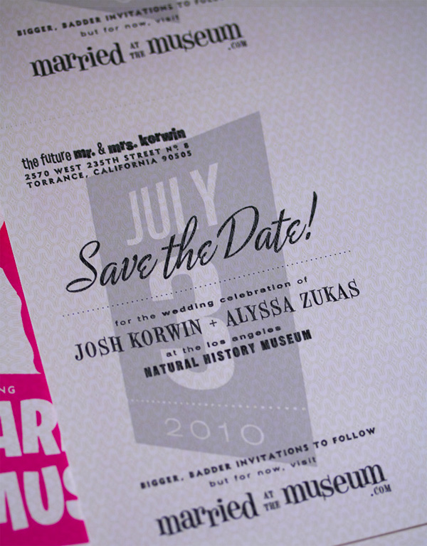 Alyssa and Josh Save the Date Postcard