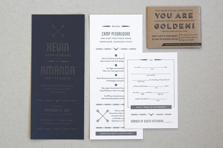 Amanda and Kevin Brand Invitation