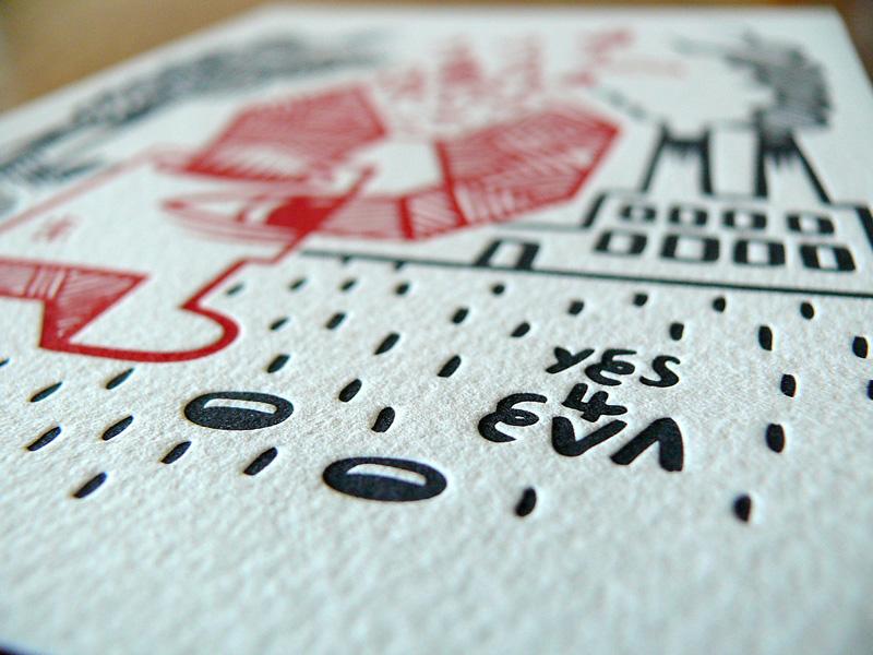 Ammo Magazine Letterpress Print