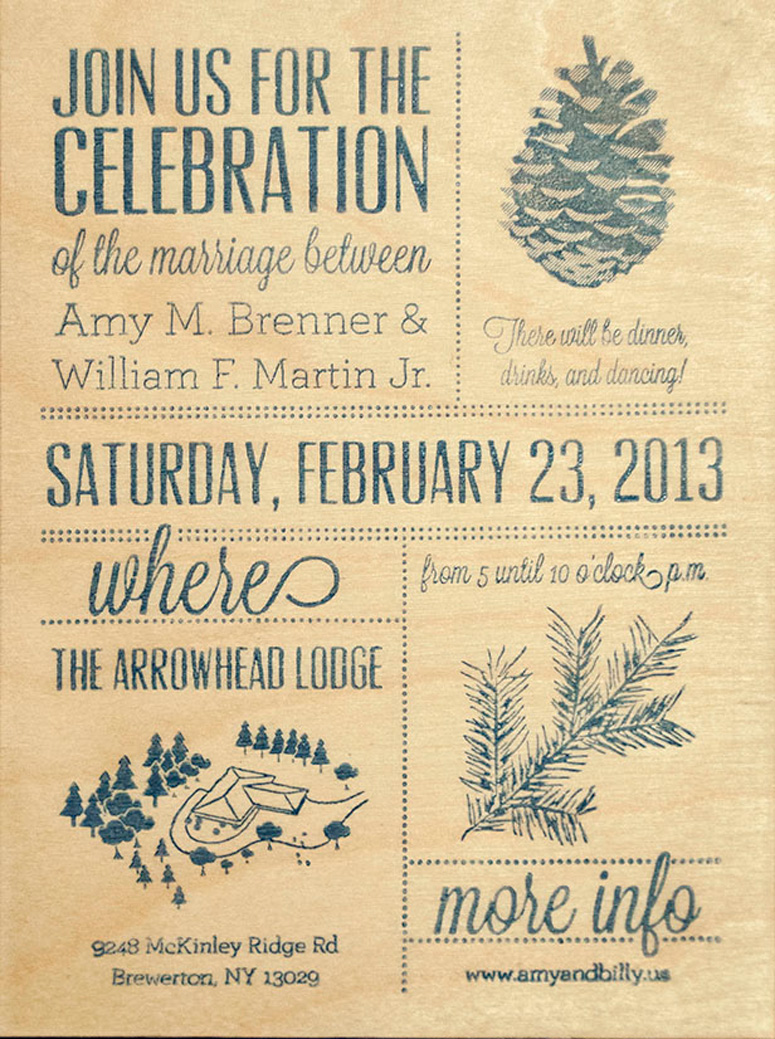 fpo amy billy 39 s wedding celebration invitation