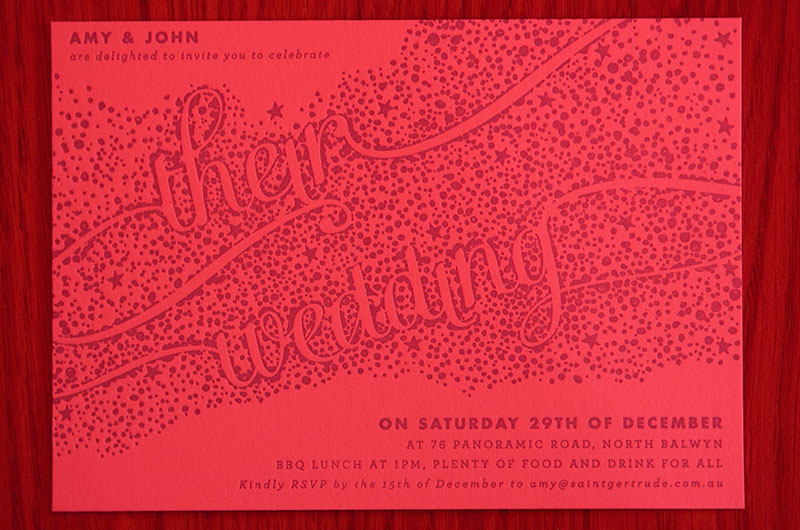 Amy & John's Surprise Invitations