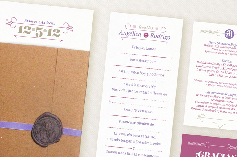 Angelica and Rodrigo Wedding Invitation