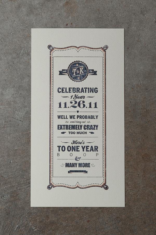 One Year Wedding Anniversary Ideas 11 Best Anniversary Poster
