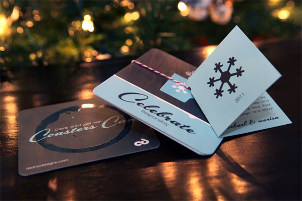 Asano Designs Holiday Coasters