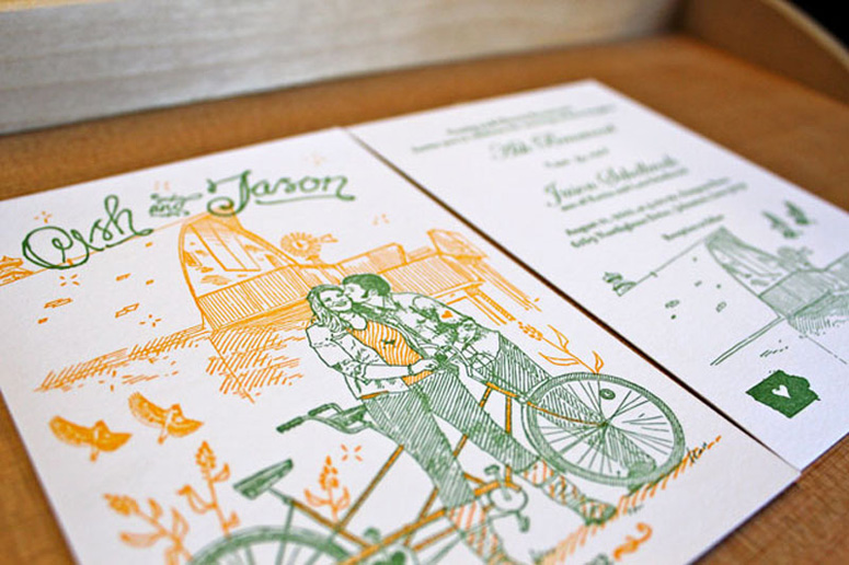 Ash and Jason Wedding Invitation
