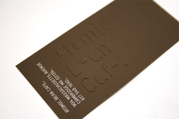 Atomic Bean Cafe Business Card
