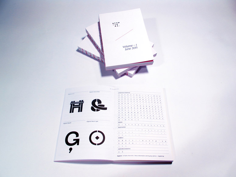 Atypical Type Foundry Specimens Book Vol.1