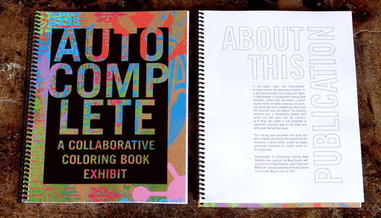 Autocomplete Coloring Book Exhibition Catalog