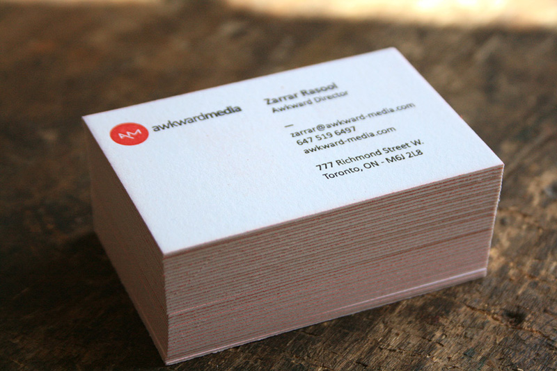 Awkward Media Business Cards