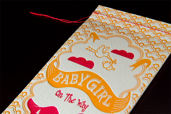 Baby Girl On The Way Invitation