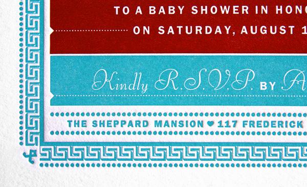Baby Bennett Shower Invitation