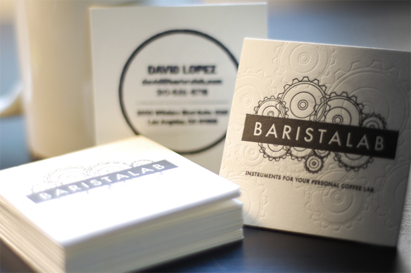 BaristaLab Business Cards