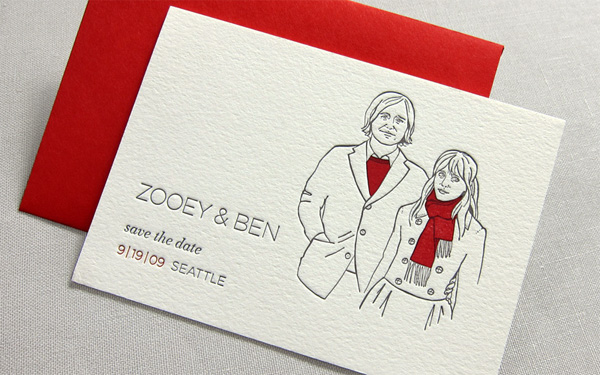 Zooey and Ben Wedding Invitation