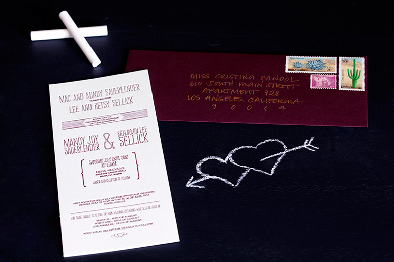 Ben and Mandy Wedding Invitation