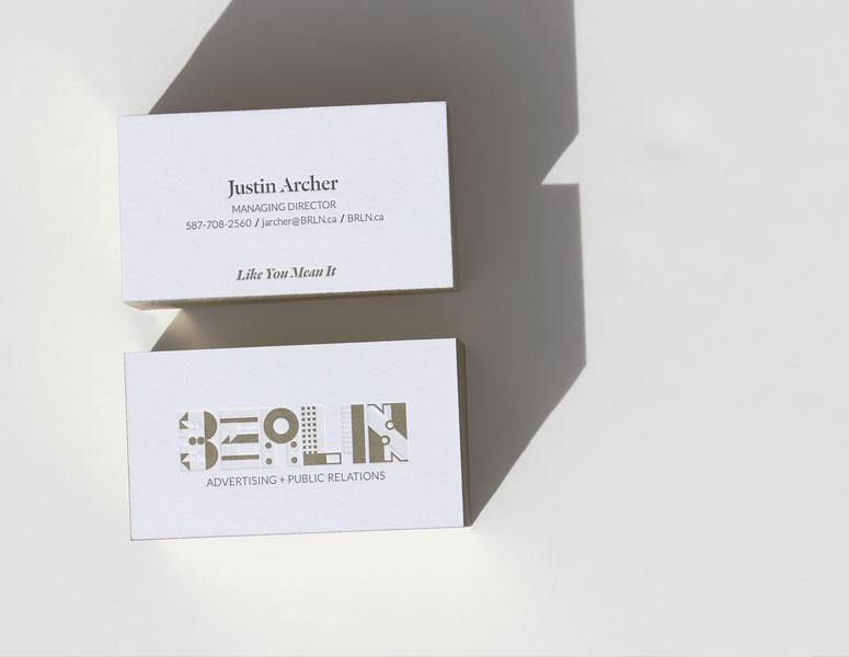 Berlin AD + PR Business Cards