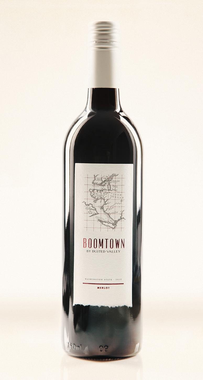 Boomtown Wine Label